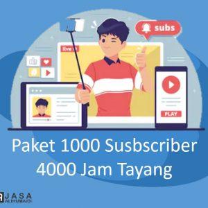 jasa 1000 subscriber dan 4000 jam tayang